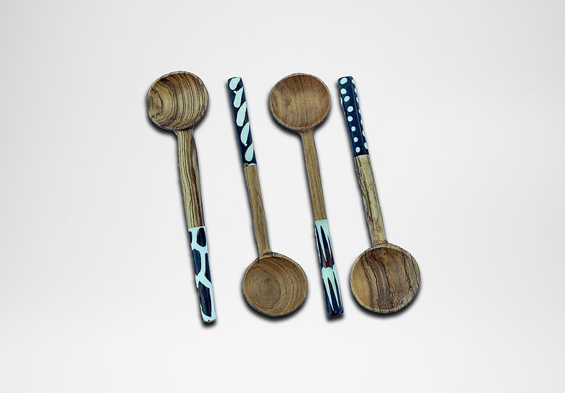 Olive Wooden Spoon (Pattern Handle)