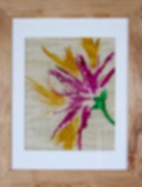 Eco Art Sample - Spider Iris