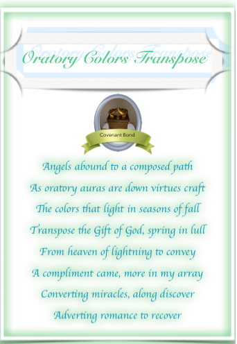 Oratory Colors Transpose