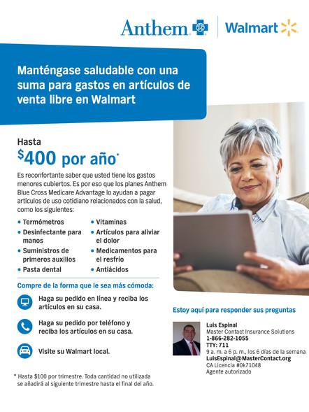 OTC $400 Walmart Volante CA 2021 Español