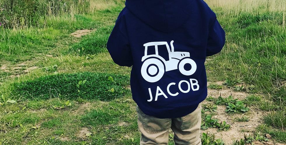 Personalised Childrens Tractor Hoodie