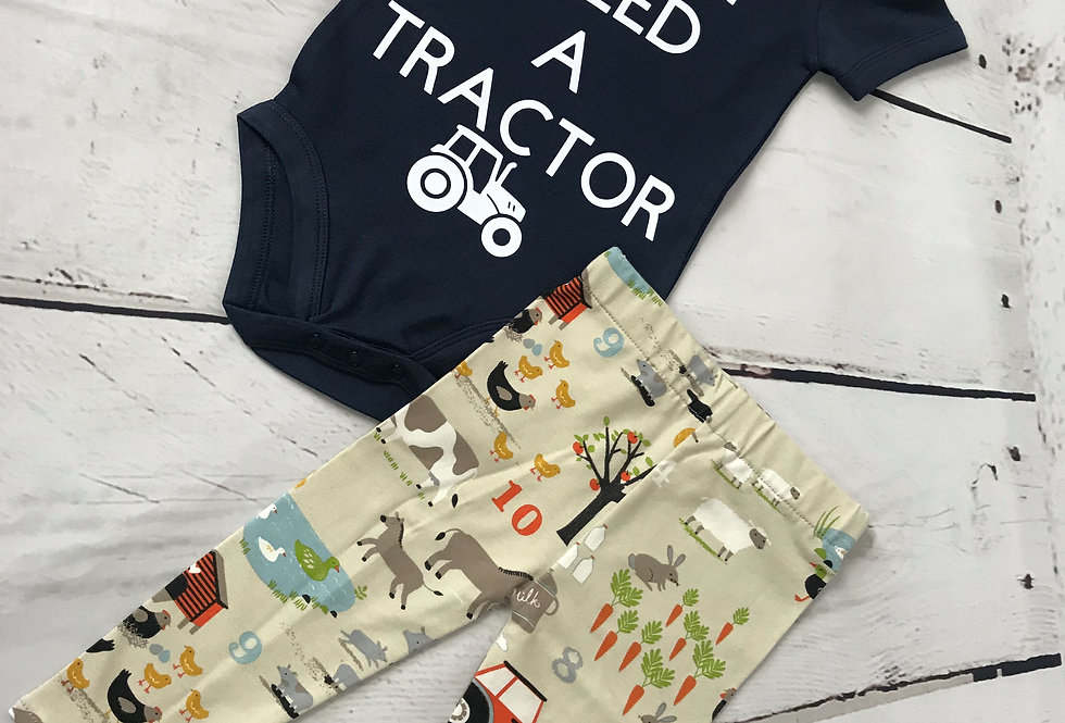 I Need A Tractor Baby Gro