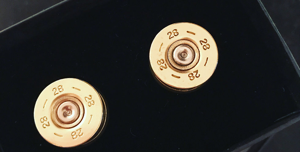 Cartridge Cufflinks - 28 bore