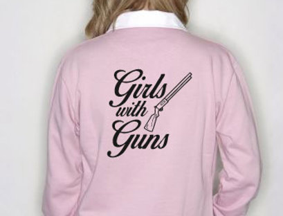 Girls With Guns Rugby Shirt