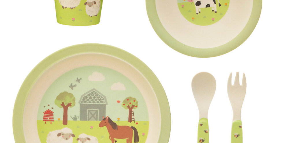 Farmyard Friends Bamboo Tablewear Set