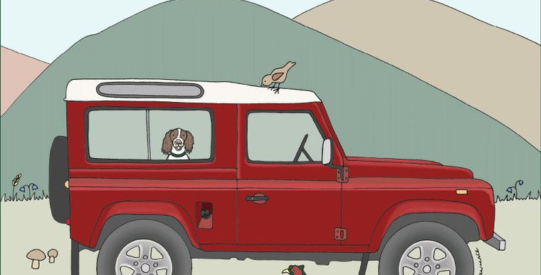 Land Rover Red Defender Greetings Card