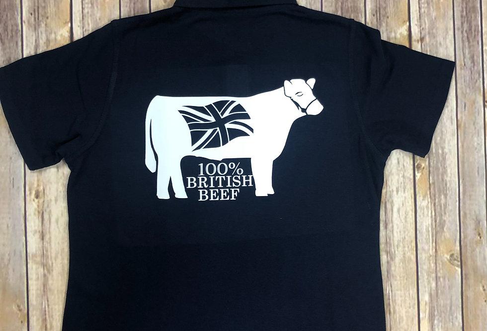 100% British Beef Mens Polo