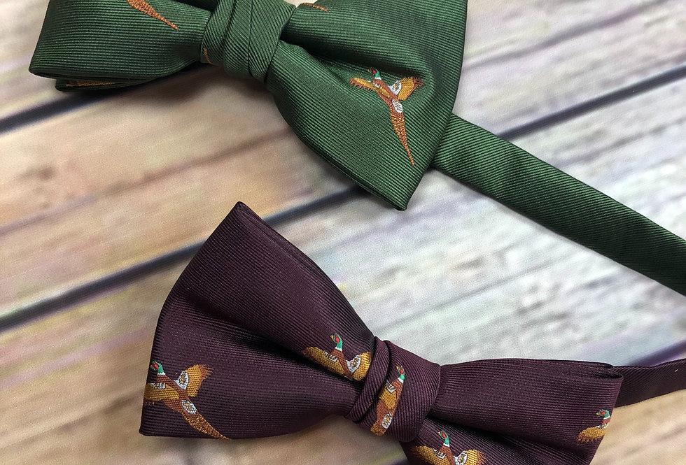 Pheasant Print Bow Tie