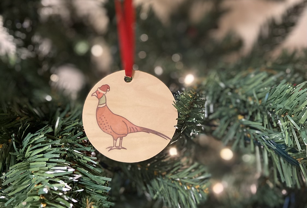 Christmas Percy Pheasant Decoration