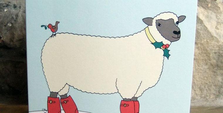 Christmas Shropshire Sheep Card