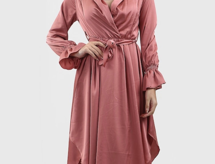 Mia Silk Wrap Dress