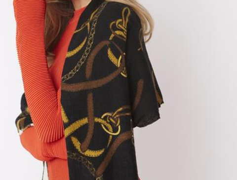 Luxury Cashmere Blend Snaffle Scarf