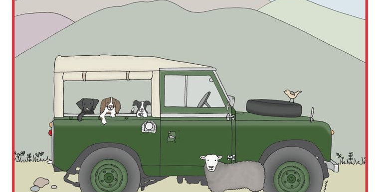 Land Rover Series 2 Greetings Card