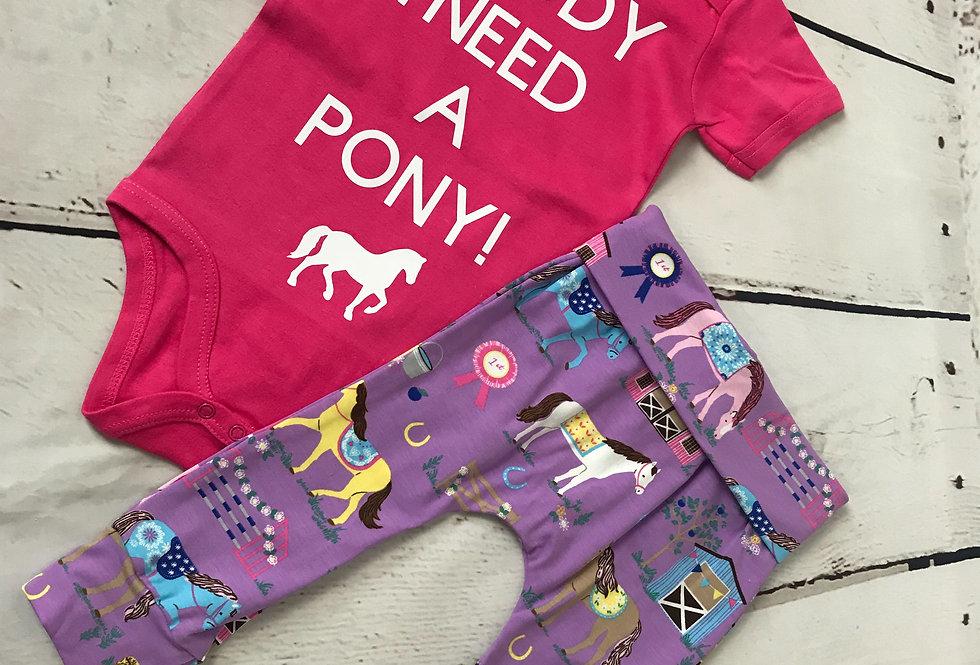 I Need A Pony Baby Gro