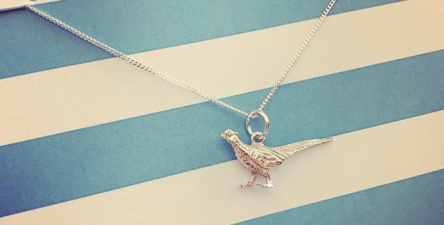 Stirling Silver Pheasant Necklace