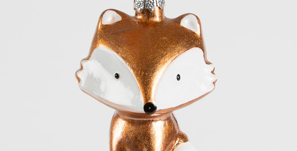 Metallic Fox Shaped Bauble