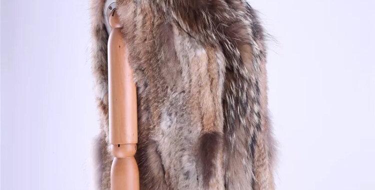 Rabbit Fur & Racoon Gilet