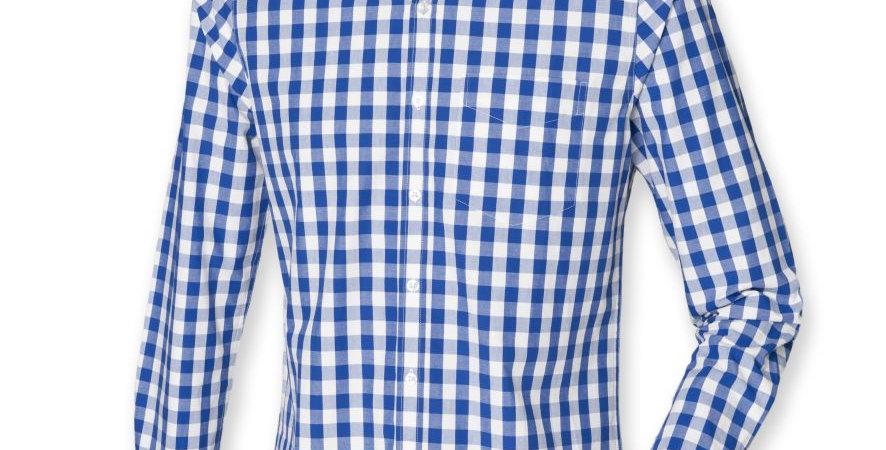 Long Sleeve Checked Cotton Shirt