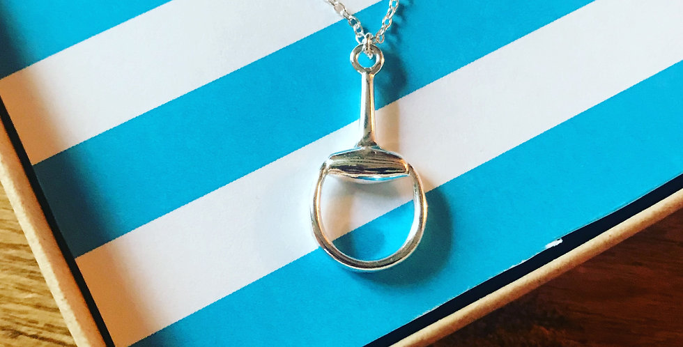 Stirling Silver Snaffle Necklace