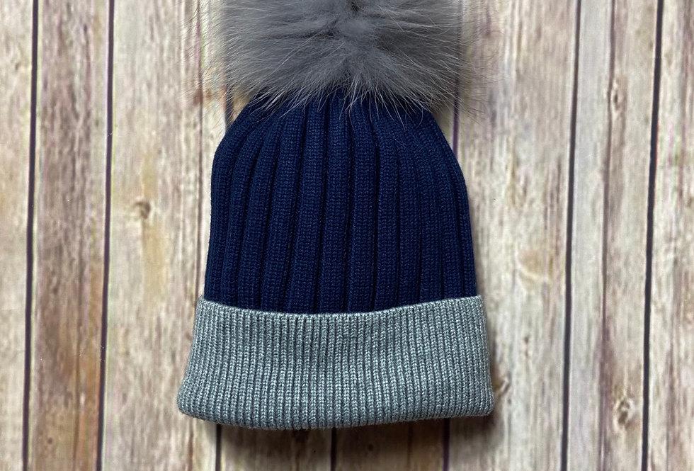 Kilburn Contrast Pom Pom Hat