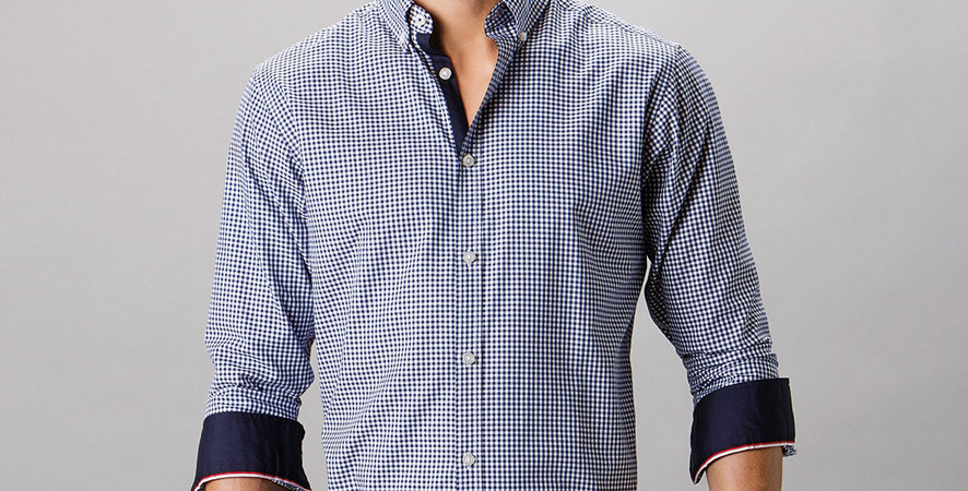 Gingham Long Sleeve Tailored Shirt