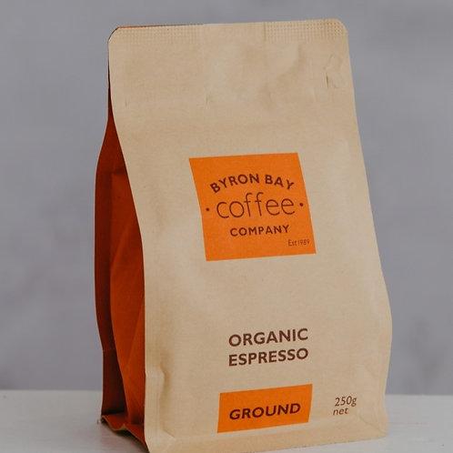 Organic Espresso Ground 250g