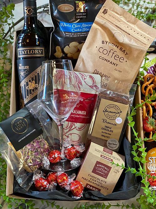 Red Wine & Chocolate Hamper Box