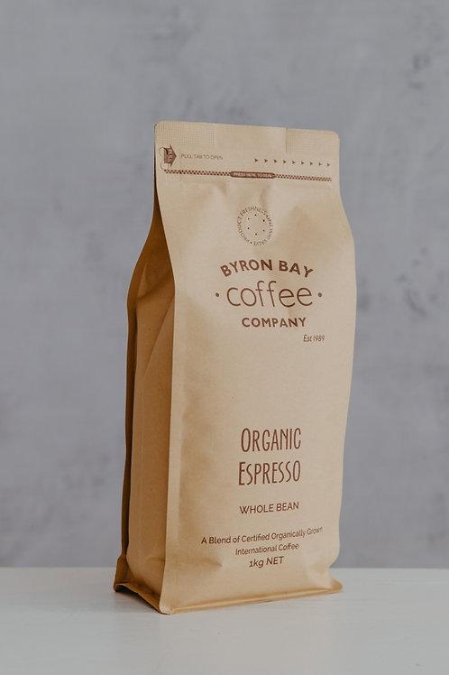 Organic Espresso Whole Beans 1kg