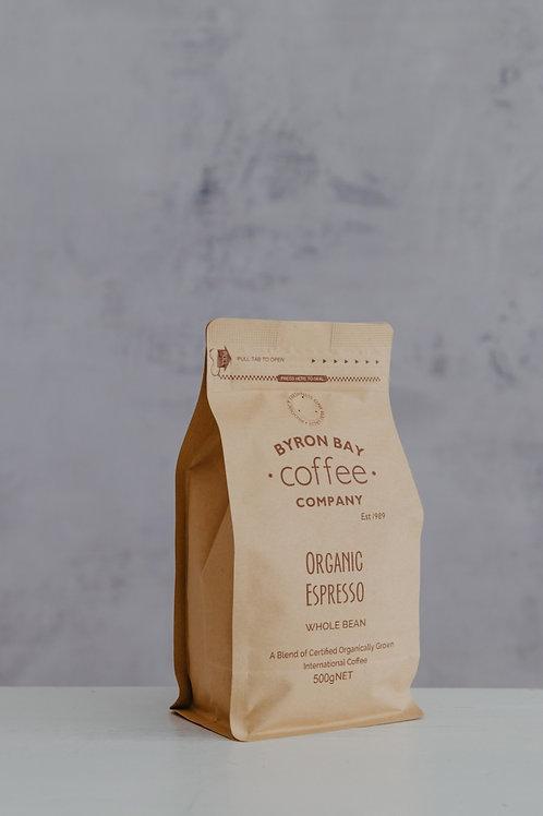 Organic Espresso Whole Beans 500g