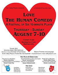 Love ~ The Human Comedy: A Festival of Six 10-Minute Plays
