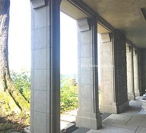 Glenn Limestone, architectural stone, stone house, beige limestone, stone wall venner, carved stone, stone column, stone window sill, stone door surrounding, stone ballustrade,