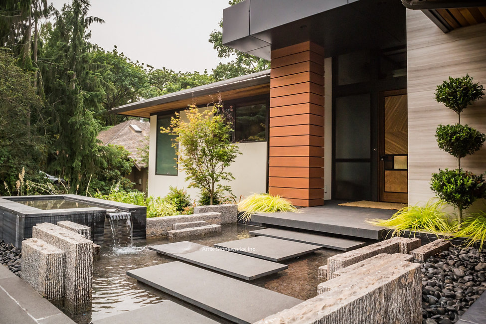 stone interior, stone wall, stone water feature, stone paver, stone stairs, stone venner, grey wood vein limestone, black wood vein limestone, black granite, brown limestone