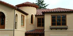 Beige Limestone House, Custom Stone