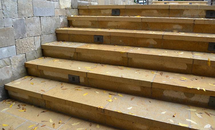 stone paver, stone stair, beige limestone, yellow limestone, fine adzed finish