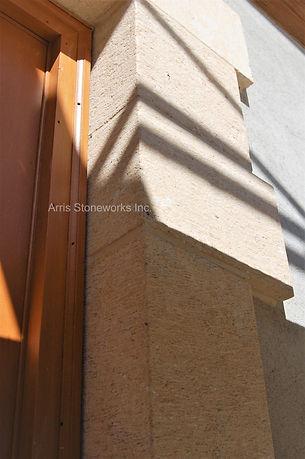 beige limestone, limestone wall veneer, limestone door surrouding, limestone window sill, limestone paving, carved limestone, fine adzed finish limestone, architectural stone, stone house,