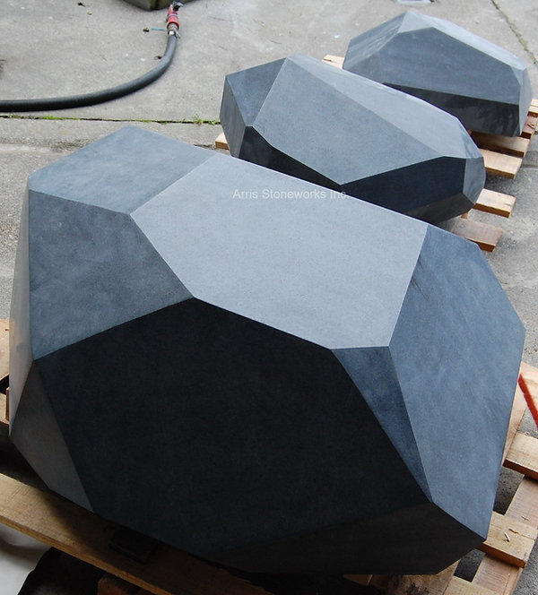 black granite, stone sculpture, stone bench, carved stone, stone art, landscape stone