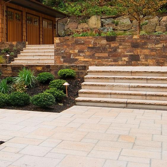beige granite stone paver, landscape stone, stone stairs, stone paver