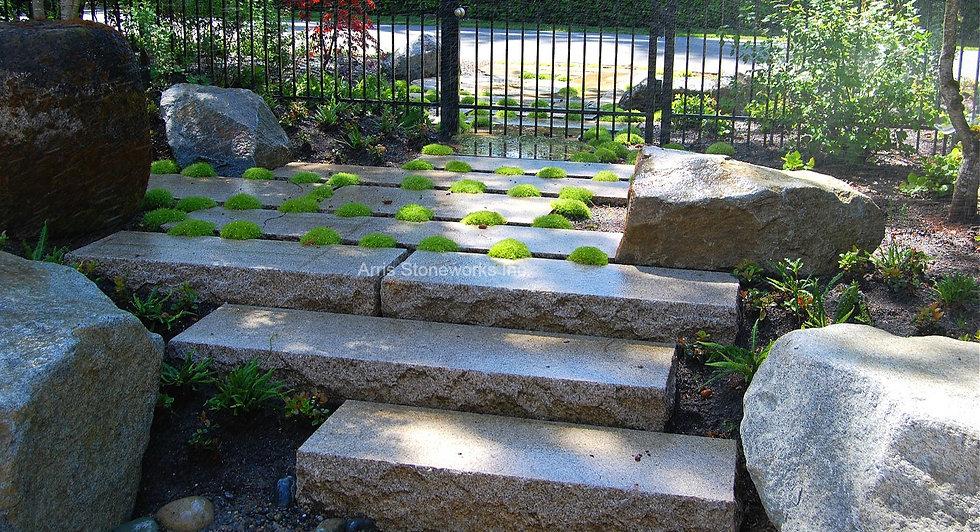 tuscan granite, beige granite, yellow granite, stone paving, stone stairs, stone plank, lychee finish,