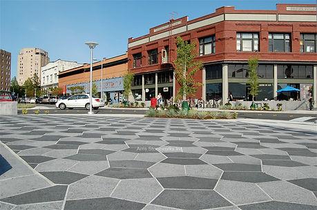 grey granite, black graite, stone paver with fine adze finish, landscape stone,
