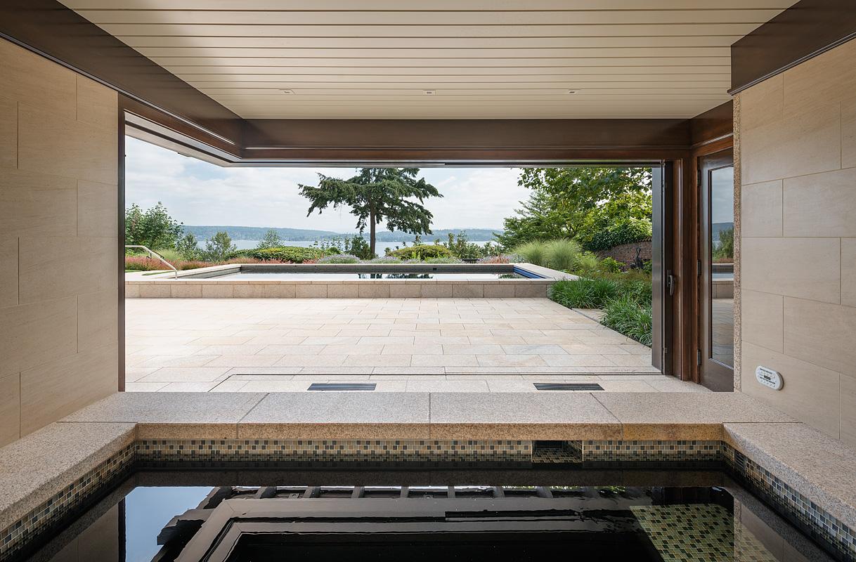 Yellow Stone House, custom stone