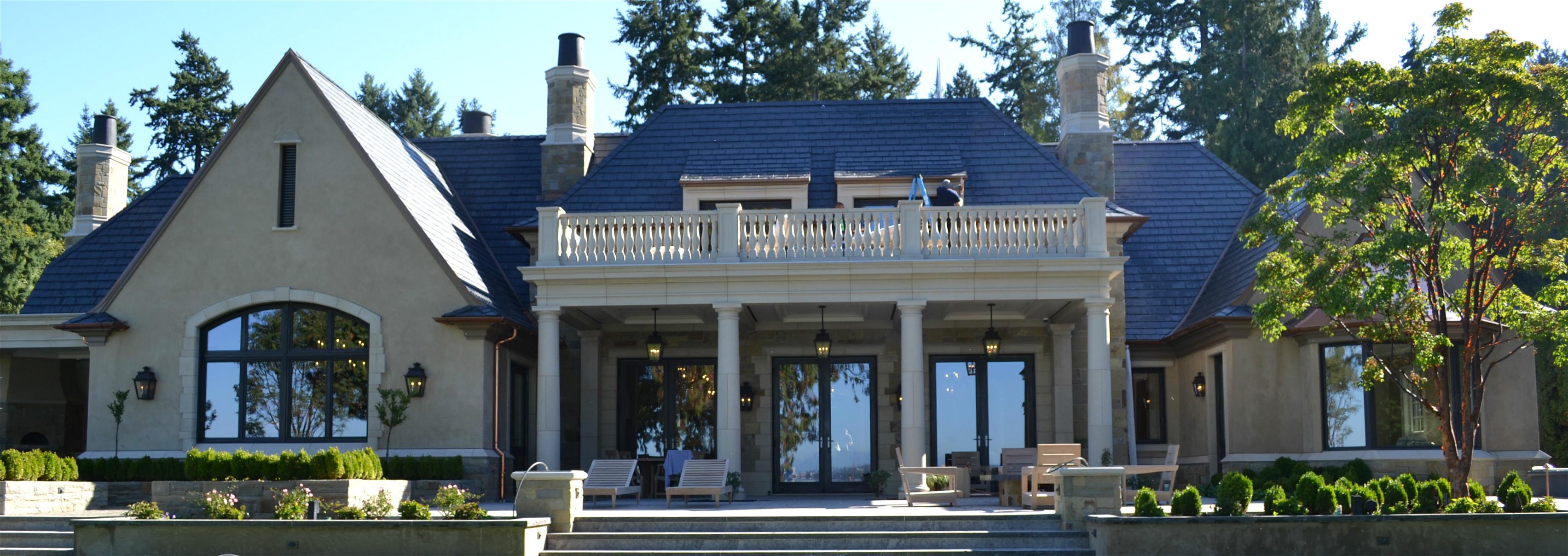 Lueder stone, custom stone  house
