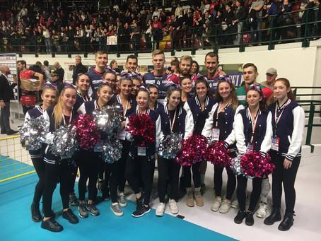 Monza Cheer supporta la squadra di Volley A1 Gi Group Vero Volley