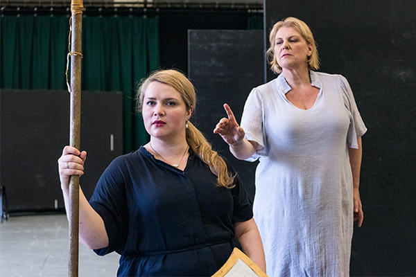 Anna-Louise and Jacqueline Dark rehearsing Die Walküre for Opera Australia, March 2020