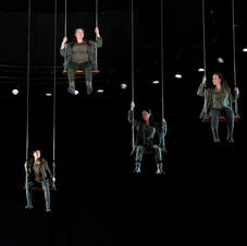 Sian Sharp, Anna-Louise, Hyeseoun Kwon and Olivia Cranwell in Die Walküre for Opera Australia, December 2016