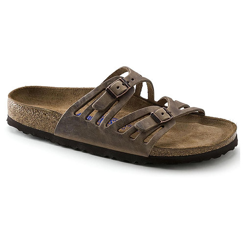 Granada Soft Footbed Oiled Leather, Tobacco Brown