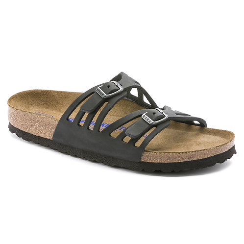Granada Soft Footbed Oiled Leather, Black