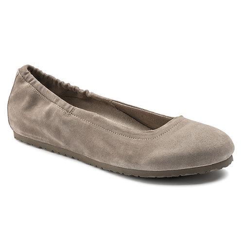 Celina, Taupe Suede Leather