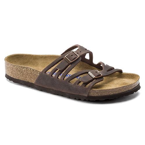 Granada Soft Footbed Oiled Leather, Habana