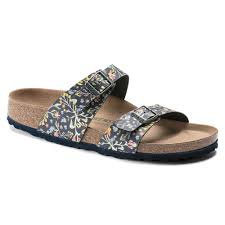 Birkenstock Sydney Watercolor Flower Black