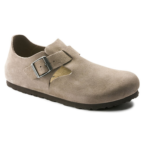 London, Taupe Leather Suede